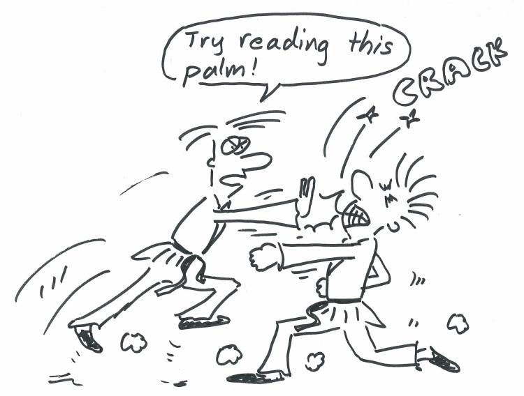 COMA palm reading